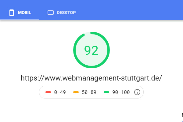 Pagespeed selber testen