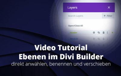 Divi Update – Ebenen im Divi Builder